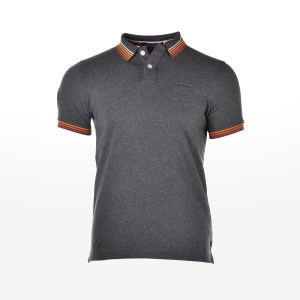 Superdry - D2 CLASSIC CALI S/S TIPPED POLO - BOLT CHARCOAL GRINDLE