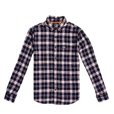 Superdry - WORKWEAR L/S SHIRT - NAVY CHECK