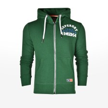 Superdry - D2 TRACK & FIELD ZIPHOOD - BRIGHT MID WEST GREEN GRIT