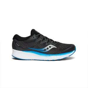Saucony - S20514-2 RIDE ISO 2 FOOTWEAR - BLACK LIGHT ROYAL BLUE (2/)