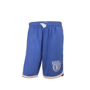Russell Athletic - JERSEY SHORTS WITH RUSSELL 'RA - ΜΠΛΕ ΓΚΡΙ/TBN