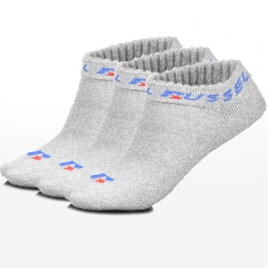 Russell Athletic - 3 PK ANKLE PED SOCK - LT GREY MARL