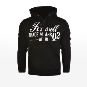 Russell Athletic - ZIP THROUGH J HOODY WITH GRAPHIC - ΜΑΥΡΟ