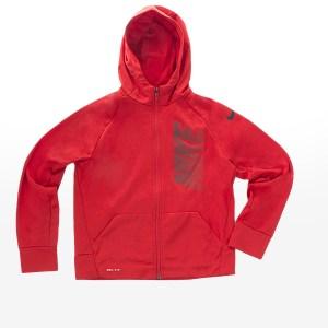 Nike - B NK THRMA HOODIE FZ GFX - UNIVERSITY RED
