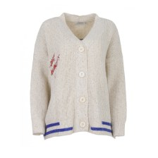 Lili sidonio - YOUNG LADIES KNITTED CARDIGAN BS - OFFWHITE