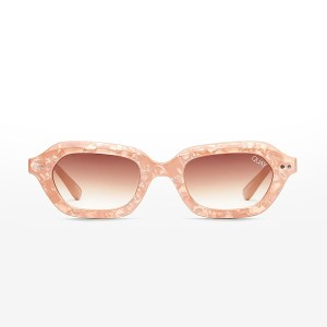 Quay sunglasses - ANYTHING GOES - PEACH PEARL / BROWN LENS