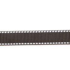 Ошейник из стропы 25 мм черный рефлекс полоска пластик с фиксатором