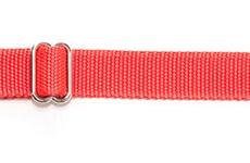 Ошейник 25 мм красный хром фастекс простой