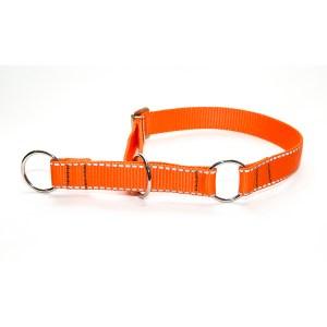Полуудавка из стропы 25 мм оранжевая рефлексная, сталь