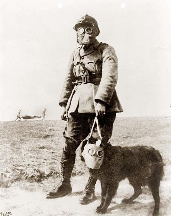 Французский солдат I мировой войны, с грюнендалем