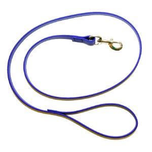 Биотановый поводок синий 19 мм тяжелый с латунным карабином