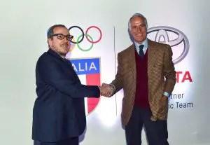 Un momento della firma dell'accordo CONI-Toyota con Giovanni Malagò (a dx)- foto GMT-FerdinandoMezzelani