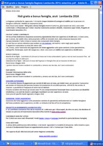 Nidi gratis e bonus famiglia Lombardia 2016