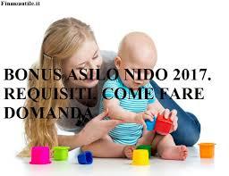 Bonus nido 2017 fino a euro sportello sociale for Bonus sociale 2017