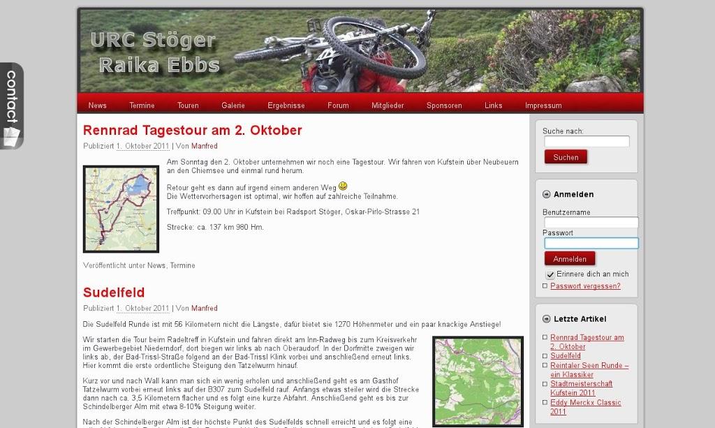 Neue Webseite URC Stöger Raika Ebbs online
