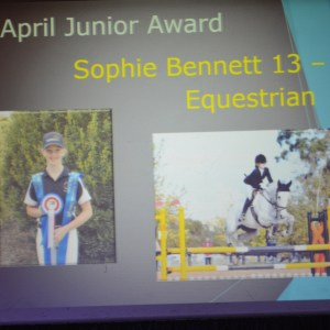 Apr J Sophie Bennett Absent Copy - Gippstar Awards Night 2016