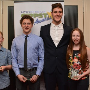Swimmers from Latrobe 2 - Gippstar Awards Night 2016