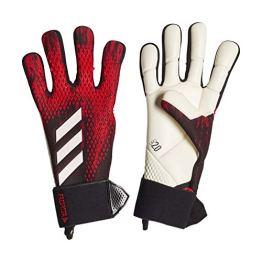 adidas PRED GL COM Soccer Gloves, Black/Active red, 9.5 - 1