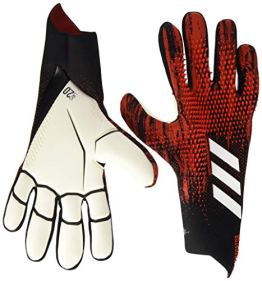 adidas PRED GL PRO Soccer Gloves, Black/Active red, 8.5 - 1