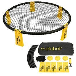 Lixada Mini Volleyball Spielset - Mit Netz, 3 Bällen, Tragetasche - Outdoor Beach Rasenteam Sportspiel für Jungen, Mädchen, Teenager, Erwachsene, Familien - 1