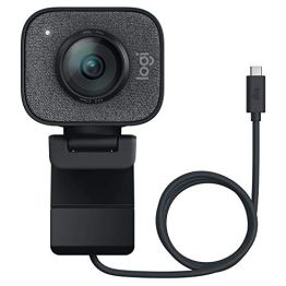 Logitech Streamcam Webcam für Live Streaming und Inhaltserstellung, Vertikales Video in Full HD 1080p bei 60 fps, Smart-autofokus, USB-C, für YouTube, Gaming Twitch, PC/Mac - schwarz - 1