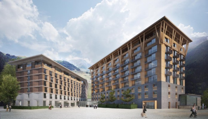 Andermatt Swiss Alps - 2. Hotel, Visualisierung