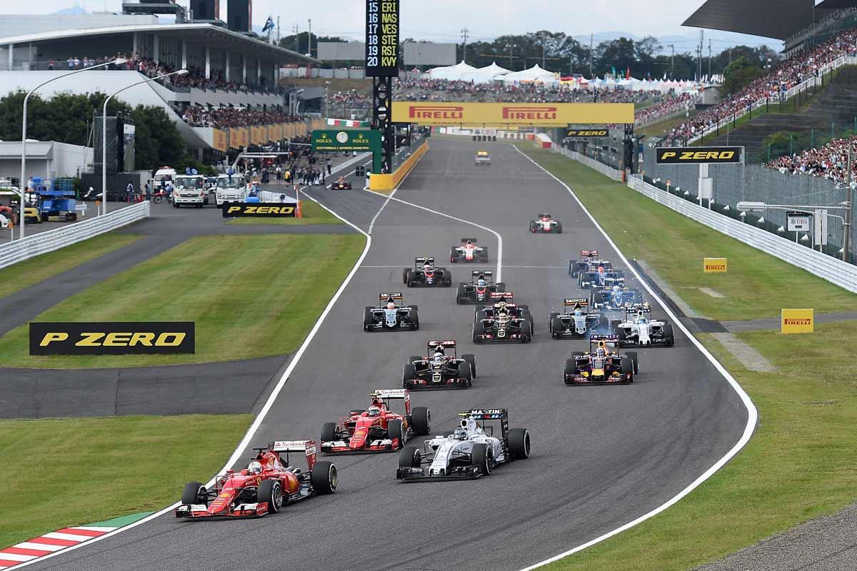 F1-Japan-2015-Ferrari-Start