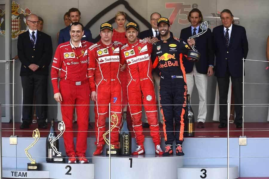 F1-GP-Monaco-Podest