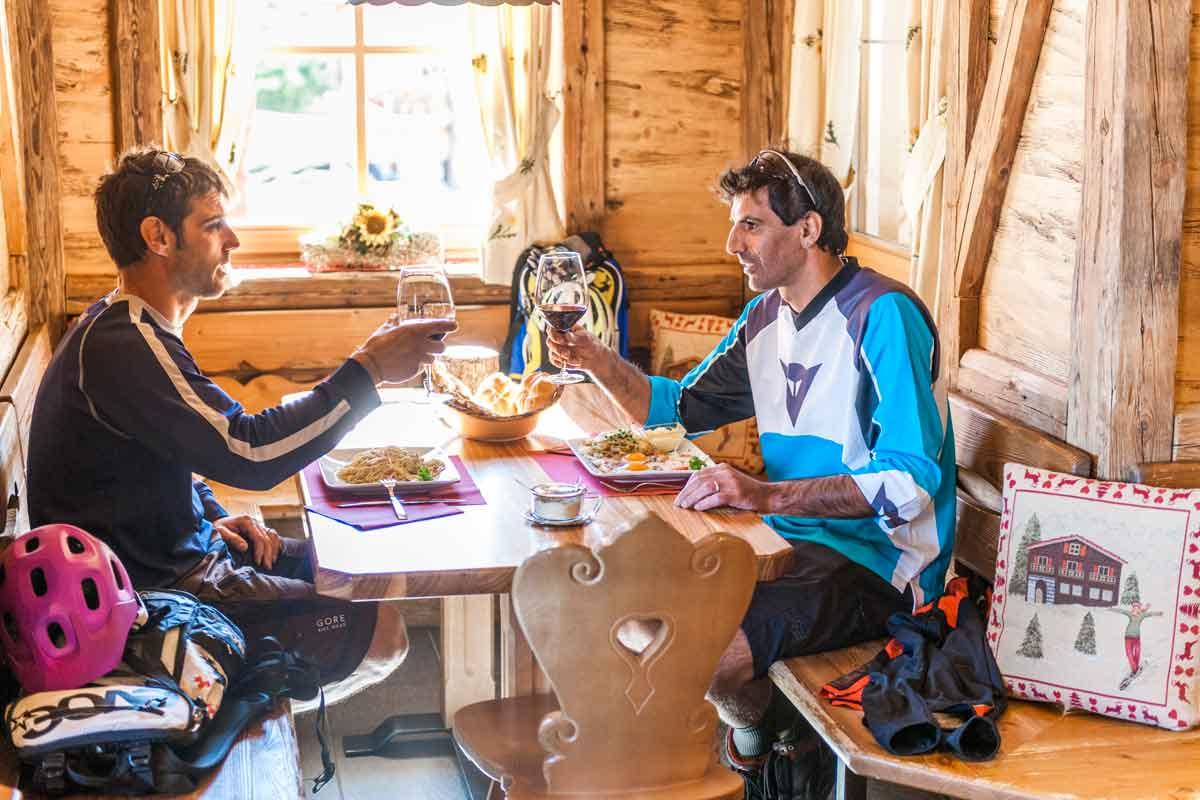 Biketour Trentino, Mittagessen