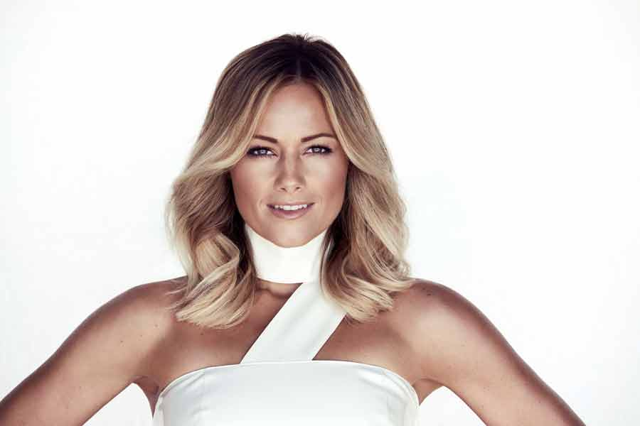 Schlagerstar Helene Fischer an den Top of the Mountains in Ischgl