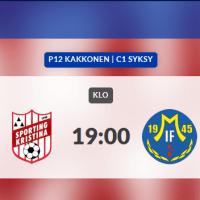 Sporting P12 spelar idag 1.8 på Kristinaplan kl. 19.00 Sporting - MALAX IF