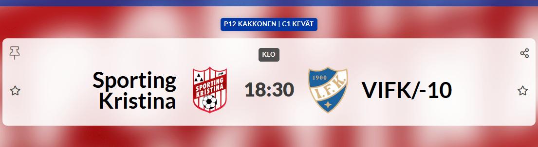 You are currently viewing Sportings P12 spelar hemmamatch på tisdag 25.5 kl 18.30 på Braheplan, Sporting – VIFK/10