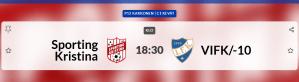Läs mer om artikeln Sportings P12 spelar hemmamatch på tisdag 25.5 kl 18.30 på Braheplan, Sporting – VIFK/10