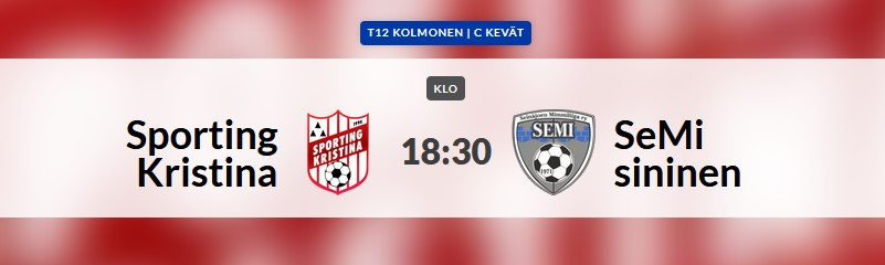 Read more about the article T12 Sporting-SeMi, Lapväärtti 6.7.2021 kello 18.30