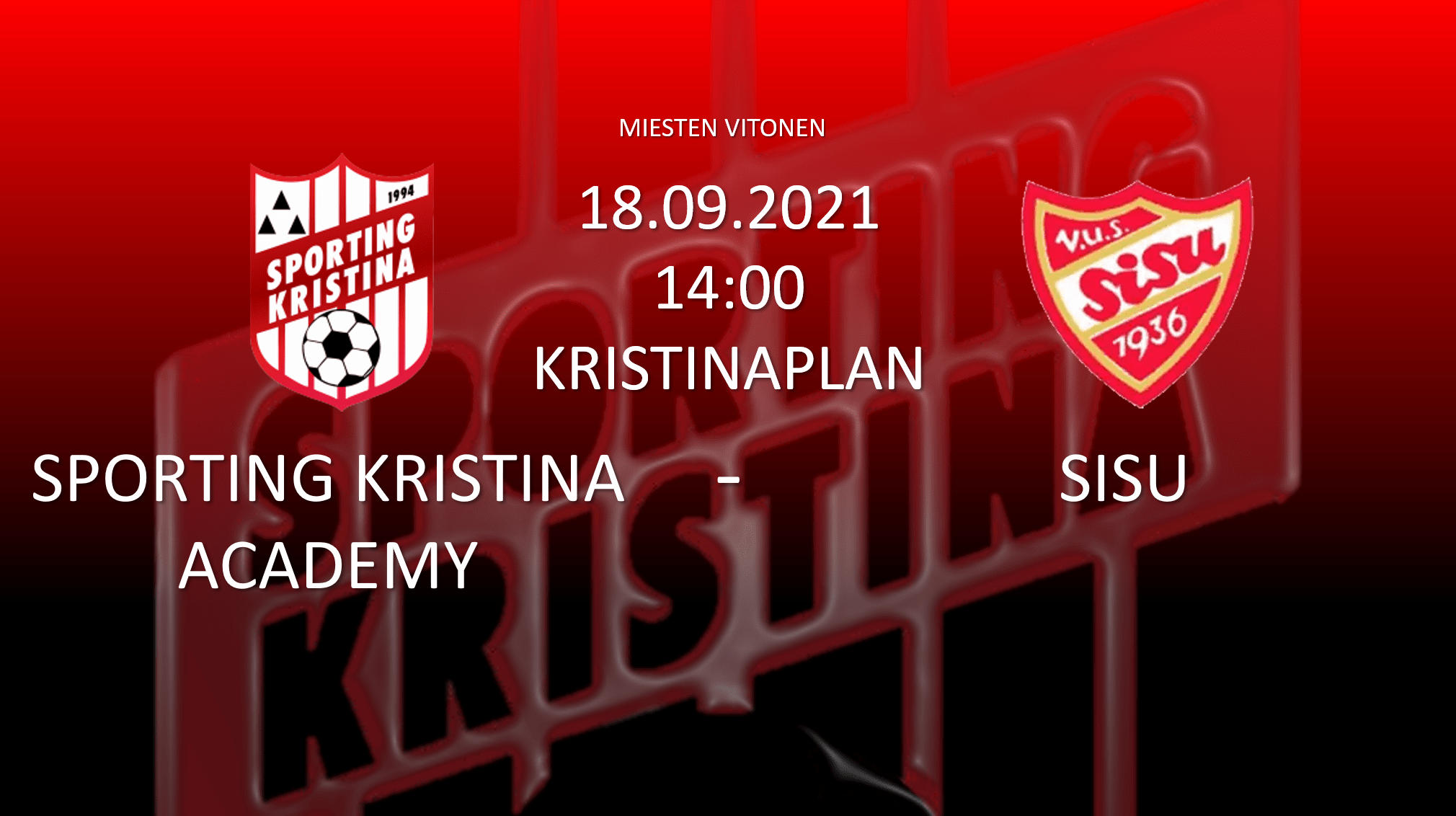 You are currently viewing Academy vs Sisu 18.09 kl. 14.00