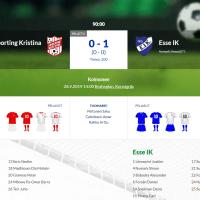 Sporting Kristina - Esse IK 0-1 (0-0)