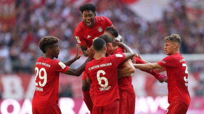 Celebrations for Bayern Munich