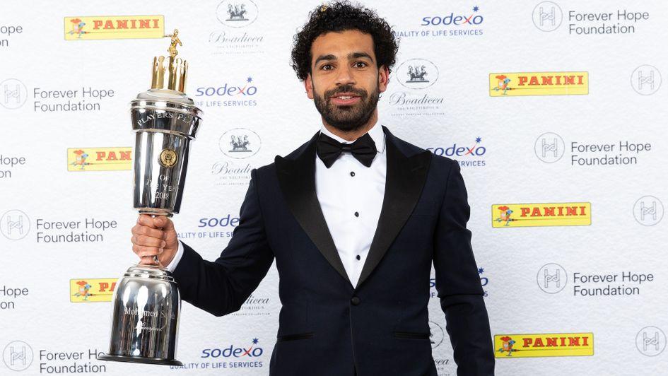 Mo Salah with the PFA Player of the Season award