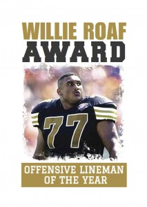 Little Rock Touchdown Club Willie Roaf Award