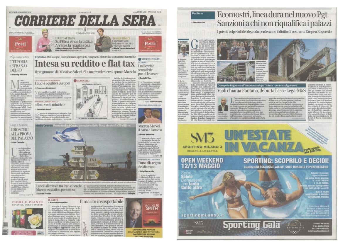 Corriere della Sera 12-05-2018