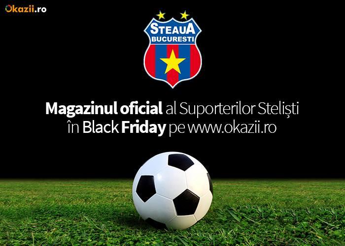 Magazinul Suporterilor Stelisti – Magazin Oficial FC Steaua Bucuresti vine de Black Friday cu mari reduceri pe Okazii.ro!