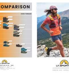 view la sportiva mountain running shoe quick comparison graph  [ 3636 x 2233 Pixel ]