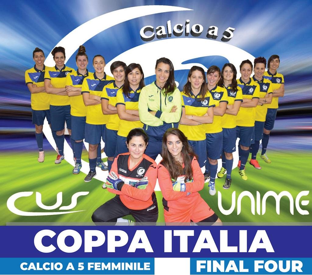 Calcio a 5 femminile Cus Unime alle final four girone