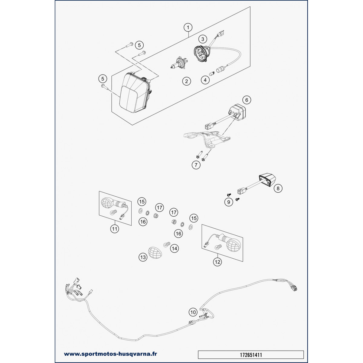 hight resolution of turn signal wiring harness husqvarna fe 250 2019