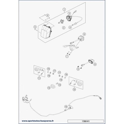 small resolution of turn signal wiring harness husqvarna fe 250 2019