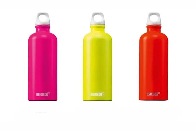 Bottiglie Sigg per lo sport e il tempo libero in 3 nuovi colori neon punk