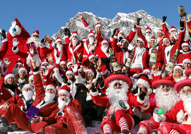 Il campionato mondiale dei Babbo Natale