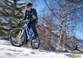 Tutti possono pedalare sulla neve a Courmayeur