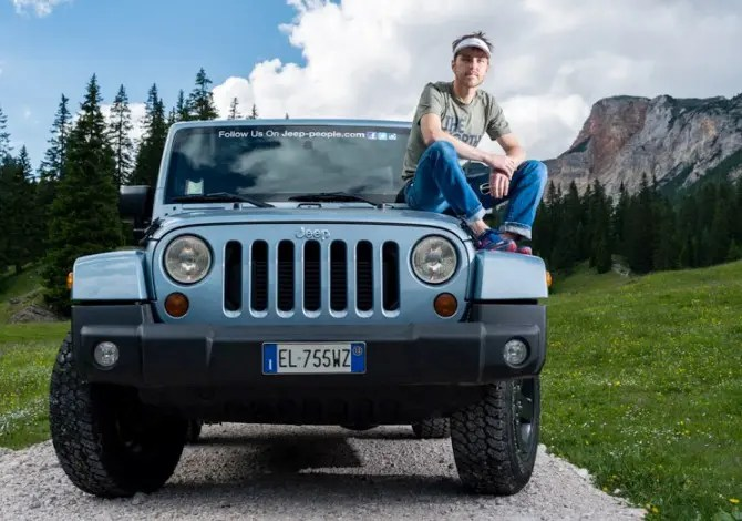 Il trail runner Mike Foote ambassador Jeep