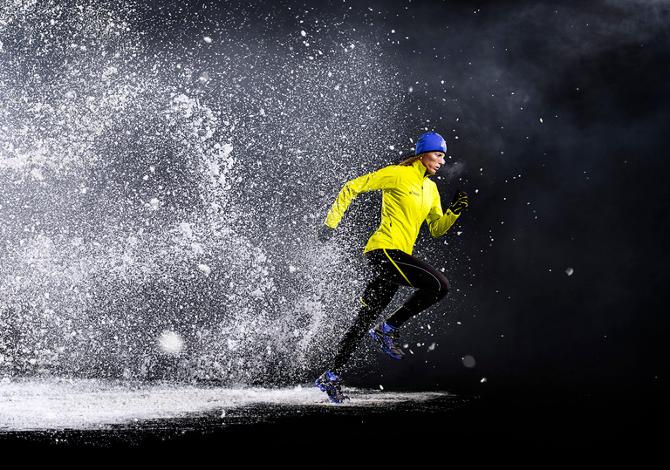 Correre con la neve